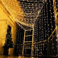 LED Noel Yenilik Işıkları Yeni Yıl 2021 Ev Dekorasyonu 110 V 220 V Tatil Aydınlatma Açık Su Geçirmez Bahçe Odası Perde Lamba