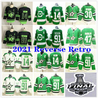 2021 Reverse Retro Dallas Stars # 14 Jamie Benn 4 Miro Heiskanen 24 Rope Hintz 91 Seguin 47 Alexander Radulov Man Women Kids Youth Jerseys