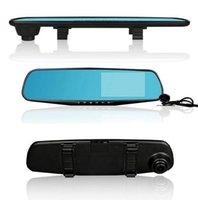 "HD 1080p 4.3 ""Monitor de monitor en automóvil DVR Retrovisor espejo Cam Dual Lente Dash Cámara Cámara Cámara Tacógrafo"