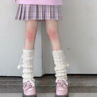 Socks & Hosiery Women Knit Winter Loose Style Lady Boot Knee High Stockings Leggings Warm Boots