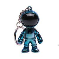 Favor de fiesta Astronauta llavero negro tendencia personalidad tridimensional creativo coche colgante hombres y mujeres collar bolso accesorios DHD7714