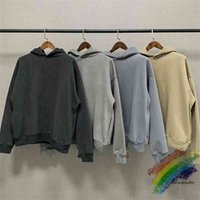 Oversize Kanye West Season 6 Hoodie Solid Men Women 1:1 High Quality Inside Velvet Tag Label Pullovers Sweatshirts C0HP