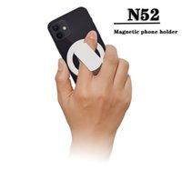 Titolare del telefono cellulare del telefono cellulare N52 per il titolare magnetico dell iPhone 12 anello ultra sottile con scatola al minuto