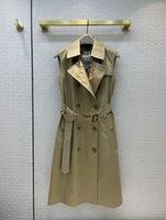 Milano Pist Yelek 2021 Sonbahar Uzun Kollu Kapşonlu Kadın Mont Tasarımcı Giyim Marka Aynı Stil Giyim 0804-4