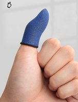 モバイルタッチスクリーンの敏感な指先グローブシュート撮影ジョイスティックのヒントプレイゲームシルバーファイバーフィンガースリーブ100ペア/ロット