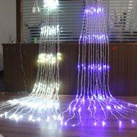 Beiiidi 3x2 / 3x3 / 6x3m led شلال ماء النيزك دش المطر سلسلة ضوء عيد الميلاد ستارة الزفاف icicle الجنية سلسلة جارلاند