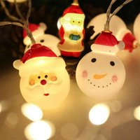 Ağaç 1.6 m pil ile 2020 yeni yıl ev kardan adam lamba Noel dekor led ışık şerit