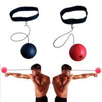 Boules de fitness Boxing Fight Ball Tennis avec bande de tête pour la formation de la vitesse de réaction réflexe dans la perforation