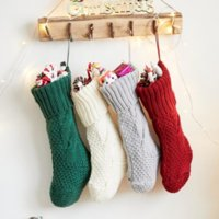 New Personalized High Quality Knit Christmas Stocking Gift Bags Knit Christmas Decorations Xmas stocking Large Decorative Socks Gifts