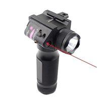 Lampe de poche à LED tactique de la poignée antérieure avec la modification de la vue de visée laser rouge rouge pour 20mm Picatinny ou Weaver Rail.