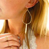 Hoop & Huggie Gold Filled Earrings Handmade 925 Silver Jewelry Vintage Hammered Tassel Brincos Pendientes Oorbellen For Women