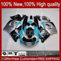 Fairings Kit For SUZUKI SRAD GSXR 750 600 CC 600CC Cyan silver 750CC 96-00 Bodywork 22No.27 GSXR750 GSXR-600 96 97 98 99 00 GSX-R750 GSXR600 1996 1997 1998 1999 2000 Bodys