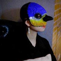 تأثيري يتوهم الطيور البومة لينة رغوة نصف الوجه منقار طويل الأنف مسؤر كرنفال حزب قناع