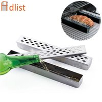 Tools & Accessories BBQ Cold Smoke Generator Stainless Steel Barbecue Tube Grill Humidifier Mesh Pellet Tool Smoker Box Fish Salmon