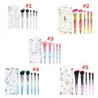 Neueste Schönheit Makeup Pinsel 5 teile / satz Diamant / Kristallgriff Kosmetikbürsten Pulver Lidschatten Foundation Pinsels Werkzeuge mit Quicksand Bag