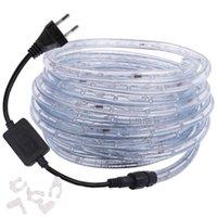 360 Round LED Neon Stip Arcobaleno Tubo Light 220V 110 V AC RGB LED RACCONE LUCE LUCE Nastro impermeabile Striscia flessibile Decorazione esterna