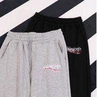 Kadın Pantolon Kadın Harem Pantolon Erkekler Rahat Uzun Pantolon Bahar Yaz Yeni Streetwear Moda Yüksek Kalite Elastik Bel Pantolon Sıcak 2021 Siyah
