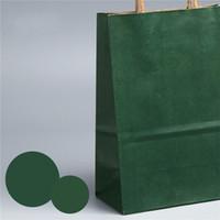 Borsa da regalo di carta Kraft 21 * 27 * 11 cm Black Brown Brown bianco rosa multicolor shopping bag sacchetti con maniglia ZZC3594