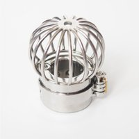 Scrotum separation fixture Stainless Steel Chastity Device Scrotum Restraint 495g Weights Device Spike Ball Stretcher Locking Cock Ring Dcqg