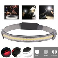 Headlamps Hi-Beam Work Light Super Bright Strap Battery Powered Waterproof COB LED For Outdoor Activity Portable SCIE999