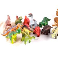 Freeship 4x6x8x12x New Dinosaur Dino Squishy Toys Set Slow Rising Squeeze Stress Relief Toy for Party Goodie Bag Fillers Favors Q0423