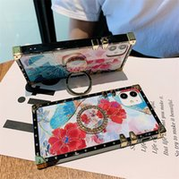 Luxury square Flowers Ring Holder Phone Cases For samsung galaxy A51 A71 S20FE A02S A21 A11 A325G Note 20 S10 S21 S20 Ultra Plus S10E Cover