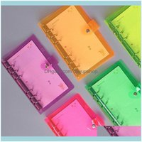 Notes Notepads Fournitures Affaires IndustriesA5 A6 A7 Loose-feuille Office School Planificateur Papeterie Laser Er Diary Notebook PVC Bouton Cadeau GL
