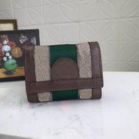 الأصلي الفاخرة أضعاف أنثى مصمم عملة محفظة السيدات جلد محفظة بطاقة الائتمان حامل حقيبة مربع السفينة السفينة حرة
