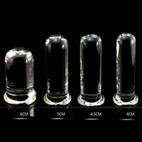 New 6 Size Glass Dildo Big Huge Glassware Penis Crystal Anal Plug Adult Sexy Toys For Women G Spot Stimulator Smooth Beautiful