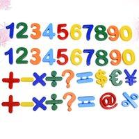 Magneti del frigorifero 37pcs Numeri Adesivi per magneti Masterizzati Matematica Numero formato frigorifero Magnetico Giocattoli educativi (colorati)