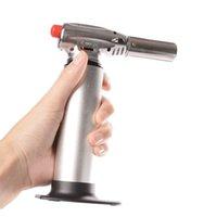 1300C Butane Scorch Torch Jet Flame Pistolet Pistolet Cuisine Heavy Duty Gaz Rechargeable Micro portable Torche culinaire Fumeur Accessoires