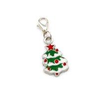 50 قطع مينا شجرة عيد الميلاد العائمة جراد البحر المشابك الخرز صالح سحر سوار diy مجوهرات 14.5x40mm A-568B