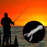 Atacado 10 cm / 9g de pesca macia polvo corpos de lula saias luminous iscas iscas iscas no estilo escuro de silicone