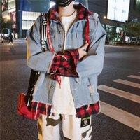 Men's Jackets GODLIKEU Men Denim Streetwear Hip Hop Spring Fashion Loose Coat Hooded Jean Male Casual Outerwear