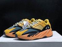 Adidas Yeezy 700 Солнце Ярко Желтый Черный Бирюзовые Мужчины Женщины Открытые Обувь Хорошее Качество Kanye West 700s Мужские Женские Спортивные кроссовки
