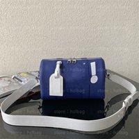 City Keep Cross Body Bag 1930 Blu in pelle con zip Borsa portafoglio regolabile con cinturino da uomo Piccoli sacchetti di design da uomo ogni giorno M58747