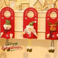 Merry Christmas Door Hanger Pendants Fabric Doors Handle Hangers Sign For Holiday Party Home Decor T2I52900