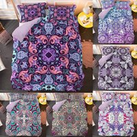 Bedding Sets Fashion Luxury 3D Bohemia Mandala 2 3 Of Microfiber Quilt Cover Household Items(Single Twin Double Full Queen King