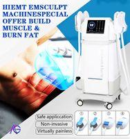 2021 Hiemt Fat Burning 쉐이핑 미용 장비 2 / 4 또는 5 핸들 EMS 근육 자극기 전자기 Emslim Hi-EMT 기계 무료 로고