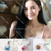 ChenaWolry Fashion necklaces Attractive Women Ladies Fashions Populars Crystal Necklace Love Drift Bottles Oct14