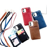 Crossbody Wallet Cases For iphone 13 11 12 Pro XS Max XR X Luxury PU Leather Card Pocket Protective Cover Shockproof Anti Fall