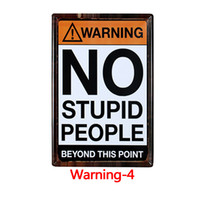 12 Styles Warning Tin Painting Toilet Kitchen Decor Poster Bar Pub Cafe Warning Retro Metal Sign Home Restaurant Vintage Tin Sign OOF5453