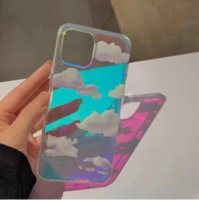 Fashion Gradient Laser Love Heart Pattern Clear Phone Cases For iPhone 11 12 Pro Max X XS XR 7 8 Plus SE 2021