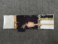 Классическая сумочка шарф повязки повязки женщин писем цветок шелковые выстраивает бандаж сумка для волос Bandea 8x120см