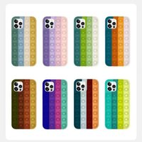 Reliver Stress Toys Phone Cases For iPhone 12 Pro Max Mini 11 XS XR X 6 6S 7 8 Plus Push Bubble Fidget Antistress Silicone Cover