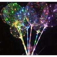 LED BOBO BALLOOT с 31,5 дюйма Stick String Balloon LED Light Рождество Halloween Balloons Воздушные шары Dec Jlldzn Xmhyard