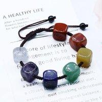 Bangle 1PCS Adjustable Chakra Energy Yoga Meditation Bracelet Natural Stone Healing Jewelry Women Bracelets For Drop