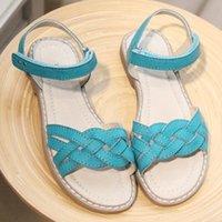 Девушки классные сандалии тканые стиль очень модные натуральные кожаные COM мягкие нижние сандалии размер 34 WallVell T200411