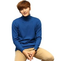 Autumn Winter Thick Warm Wool Cashmere Sweater Men Turtleneck Mens Fit Pullover Knitwear Pull Homme Jumper 210530