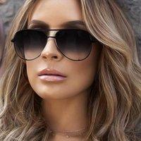 Moda Marka Tasarımcısı Bayan Güneş Gözlüğü Erkek Retro Ayna Yüz Maskesi UV400